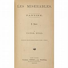HUGO, VICTOR Les Miserables. New York: Carleton, 1862. First American edition, translated by Chas. E. Wilbour. Five volumes....
