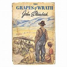 STEINBECK, JOHN The Grapes of Wrath. New York: Viking, [1939]. First edition, first printing with