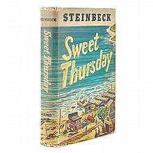 STEINBECK, JOHN Group of ten titles, various places, dates, each in original bindings of issue in dust jackets (one slipcase...