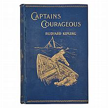 KIPLING, RUDYARD. Captains Courageous: A Story of the Grand Banks. London: Macmillan & Co., 1897. First edition. Original clot...