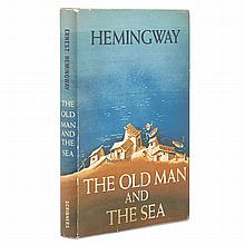 HEMINGWAY, ERNEST The Old Man and the Sea. New York: Charles Scribner's Sons, 1952. First edition, first printing with