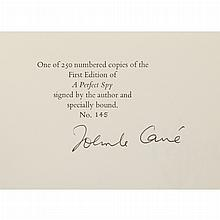 LE CARRE, JOHN Group of titles including five signed volumes, being the signed limited editions of The Little Dummer Girl...