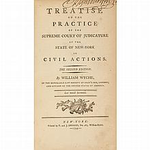 [NEW YORK - LEGAL MANUSCRIPTS] WYCHE, WILLIAM. A Treatise on the Practice of the Supreme Court of Judicature of the State of Ne...