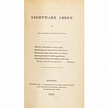 [GOTHIC NOVEL] [PEACOCK, THOMAS LOVE] Nightmare Abbey. By the author of Headlong Hall London: T. Hooker and Baldwin, Crado...