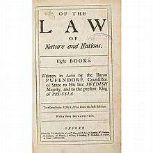 PUFENDORF, SAMUEL, BARON VON [KENNETT, BASIL-trans.] Of the Law of Nature and Nations. Eight Books...