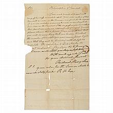 [AMERICAN REVOLUTION] LEE, RICHARD HENRY June 1776 autograph letter signed to Ephraim Blaine. Philadelphia: 3 June 1776. O...