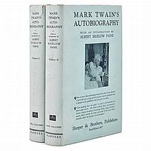 TWAIN, MARK A Twain miscellany of first and early editions in original cloth, comprising first and later issues of Life o...