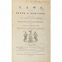 [NEW YORK - JONES, SAMUEL and VARICK, RICHARD] Laws of the State of New-York, comprising the Constitution, and the acts of the legis...