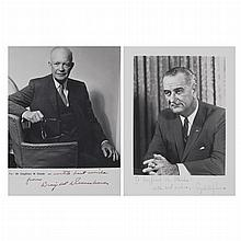 [PRESIDENTIAL AUTOGRAPHS] EISENHOWER, DWIGHT. Photograph inscribed, in lower blank border,