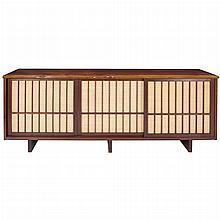 George Nakashima Japanese/American, 1905-1990 Triple Sliding Door Cabinet, 1963