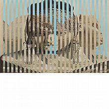 Jiri Kolar Czechoslovakian, 1914-2002 Rollage (Silver Screen/Sphynx), 1974