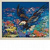 LeRoy Neiman AMERICAN BALD EAGLE Color screenprint