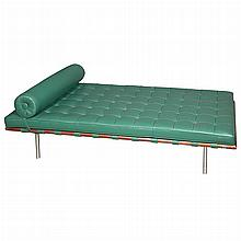 Ludwig Mies van der Rohe German, 1886-1969 Barcelona Day Bed, designed 1929, of recent issue for Knoll