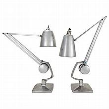 Hadrill and Horstmann English, 20th Century Two Similar G Clamp Counterweight Lamps, 1950s