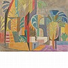 Andre Lhote  French, 1885-1962 Les Palmier a Thebes, 1952 Signed A. Lhote. (lr) Gouache and watercolor o..., Andre Lhote, $1,500