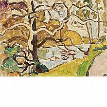 Louis Valtat French, 1869-1952 Le Gros Arbre au Bord du Lac, Bois de Boulogne, 1937