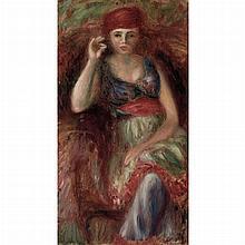 William James Glackens American, 1879-1938 Woman in Costume Smoking, circa 1920