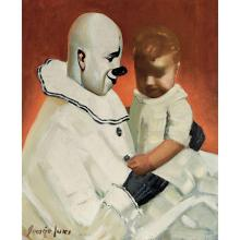 George Benjamin Luks American, 1867-1933 Entr'Acte   Signed George Luks (ll) Oil on canvas 30 x 25 inche...
