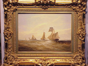 William P. Rogers British, fl. 1842 - 1872 SHIPPING VESSELS IN A BREEZE Signed W. Rogers (ll) Oil