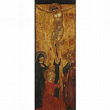 Manner of Spinello Aretino The Crucifixion with the Virgin, Saint John and Mary Magdalene
