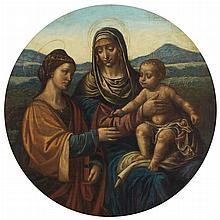 Follower of Leonardo da Vinci Madonna and Child with Saint Catherine