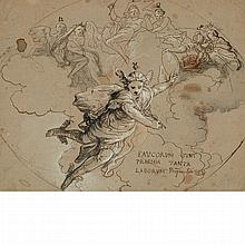 Attributed to Domenico Rainaldi Mercury Descending from Olympus: A design for a ceiling