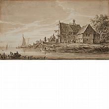 Manner of Jan Josefsz van Goyen River Landscape