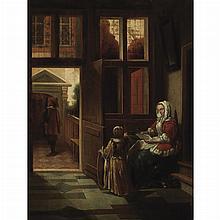 After Pieter de Hooch Lady Reading a Letter