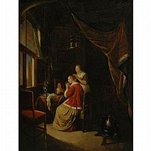 After Gerrit Dou A Lady Having Her Hair Dressed
