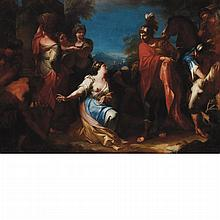 Attributed to Giovanni Francesco Romanelli David and Abigail