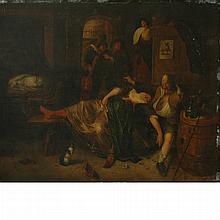 After Jan Steen The Drunken Couple