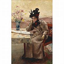 Frantz Charlet Belgian, 1862-1928 En Visite