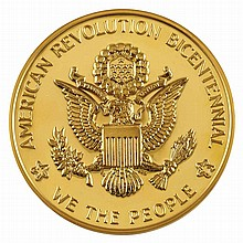 United States National Bicentennial Large Gold Medal Dean 3a