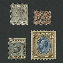 Cyprus 1880 to 1934 Used