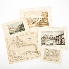 Maps & Prints   Fascinating group of approximately fifty maps and prints of the Caribbean area, primarily 19th century with...