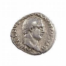 Roman Empire Vitellius 69 AD Silver Denarius