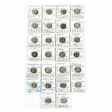 Group of Twenty-Six Roman Empire Denarii Pieces