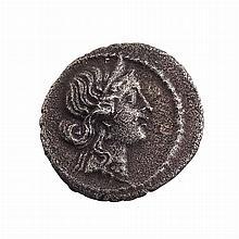 Roman Empire Julius Caesar 47-46 BC Silver Denarius S. 355
