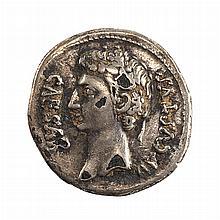 Roman Empire Augustus 27 BC to 14 AD Silver Denarius S. 484