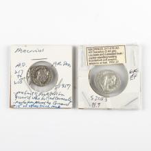 Roman Empire Macrihus AD 217-218 Silver Denarii