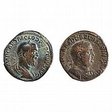 Roman Empire of Short Reigns   Two Bronze coins comprising Balbinus with Pupienus AD 238 April-July Sestertii noted as S. 23...