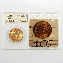 United States 1901 $10 Liberty