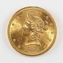 United States 1901-S $10 Liberty
