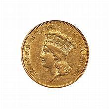 United States 1854-O $3 Princess