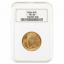 United States 1910 $10 Indian
