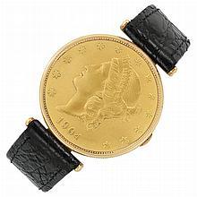 Corum Gentleman's Gold Watch with 1904-S Liberty Casing