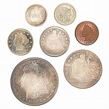 United States 1888 Proof Set of Seven Coins