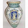 Italian Faience Ginori Style Urn