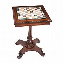 William IV Specimen Marble Top Mahogany Side Table