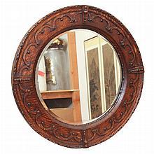 Victorian Style Oak Mirror